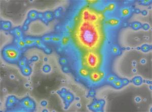 Colorado light pollution map