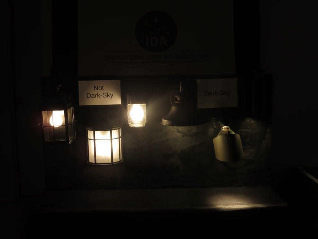 Glare from unshielded lighting